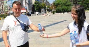 Раздаване на минерална вода в София