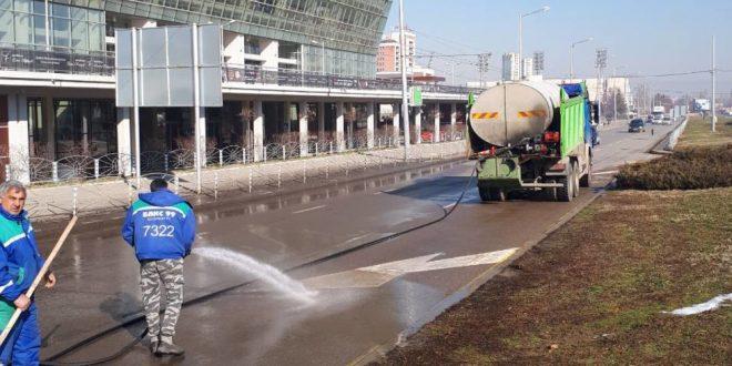 почистване на улици в София