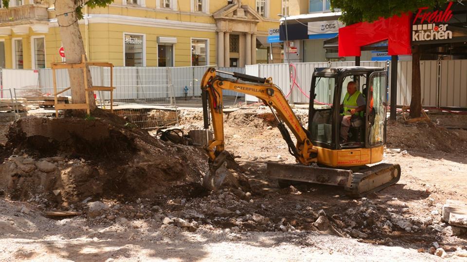 Ремонт на ул. Граф Игнатиев, Снимка: Столична община