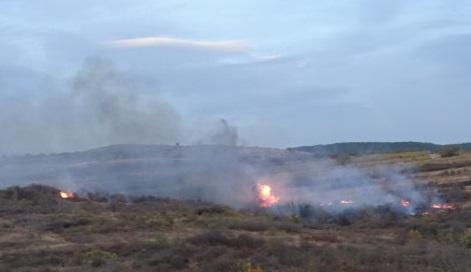 запален огън до Околовръстното
