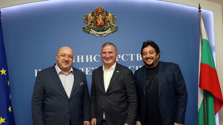 Спортният министър Красен Кралев с директора на турнира Горан Джокович и пр