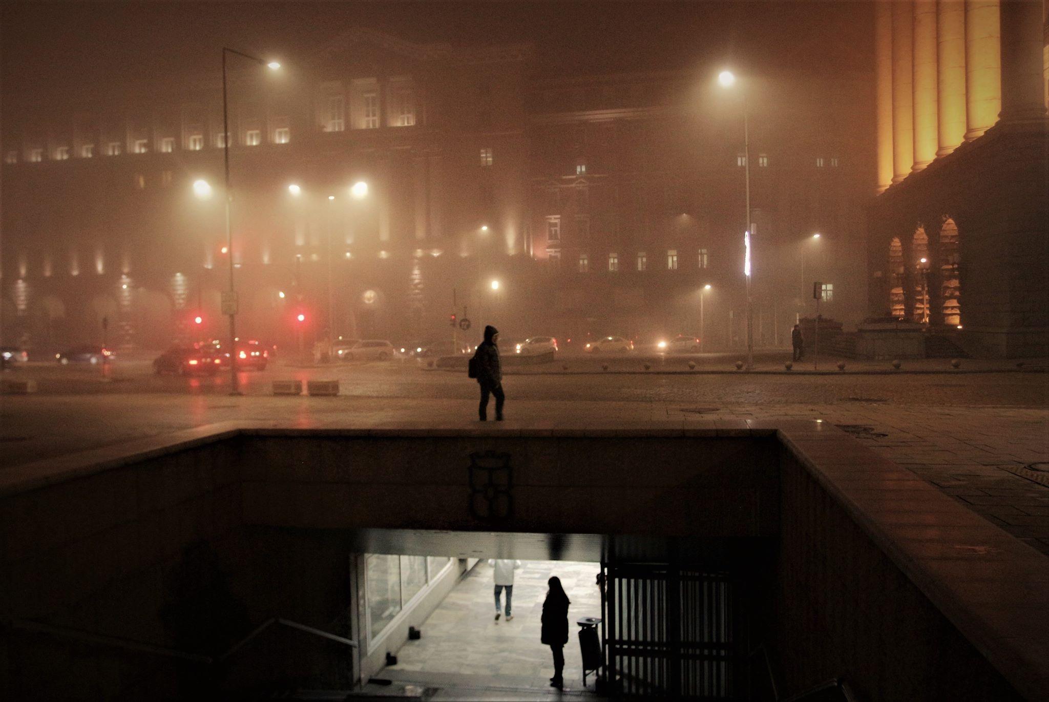 въздух, мръсен, мъгла