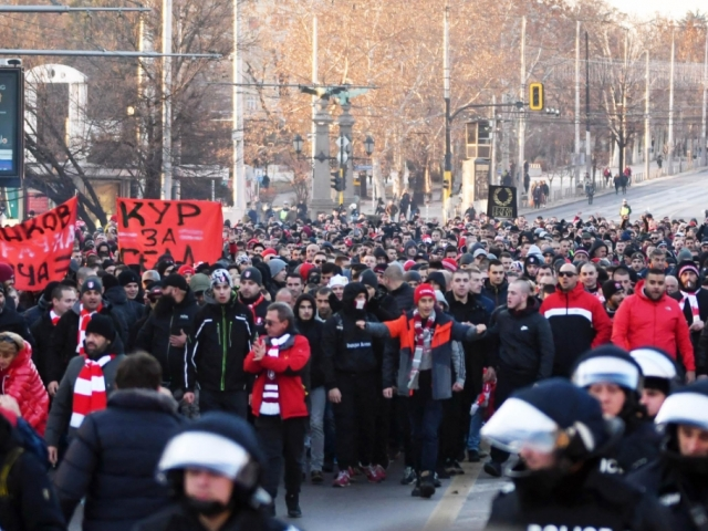 феновете на ЦСКА протестират срещу БФС