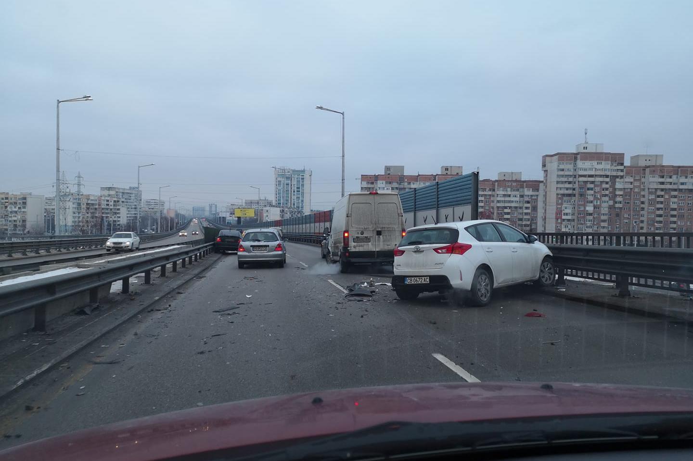 Катастрофа на столичния бул. Брюксел в Дружба 1