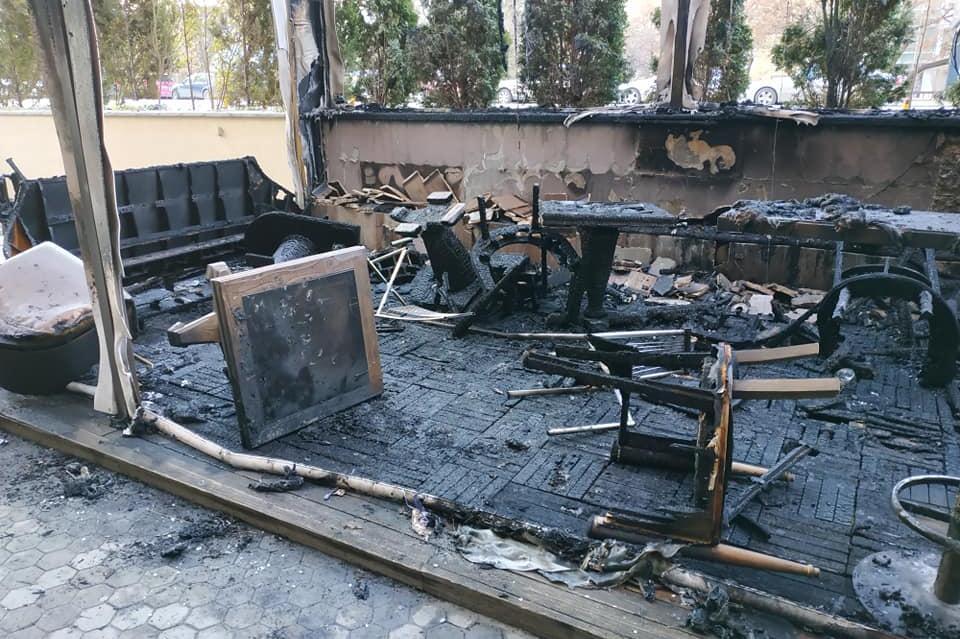 изгоряло заведение на бул. Витоша