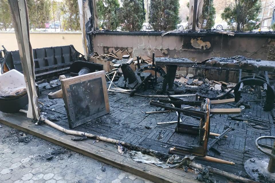 опожарено заведение на бул. Витоша