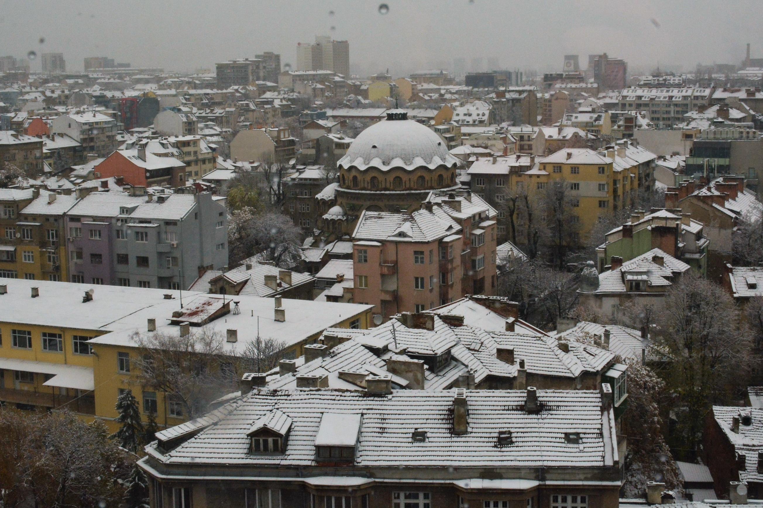 София със сняг