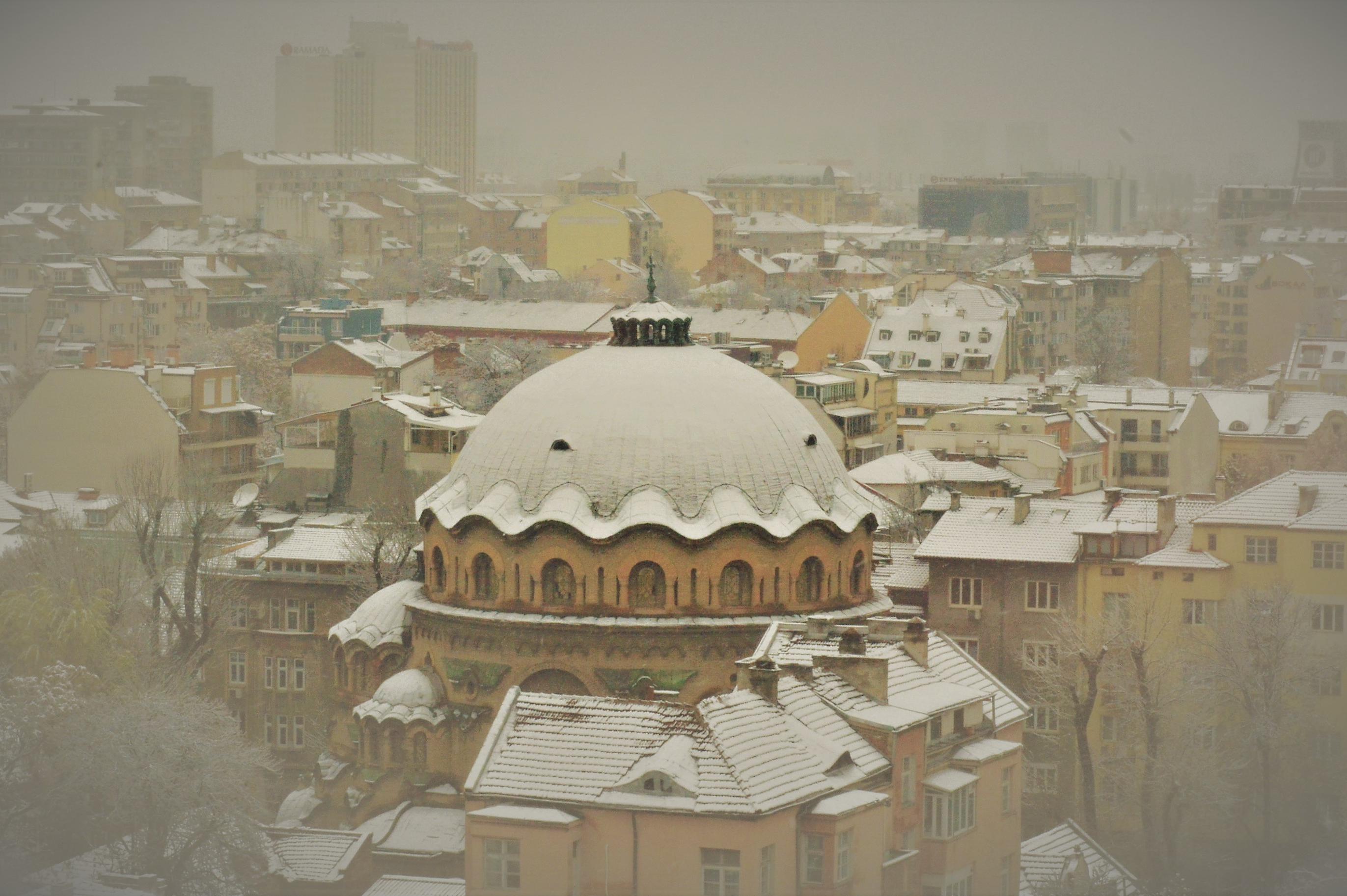 Сняг в София1 4 януари 2019 г.