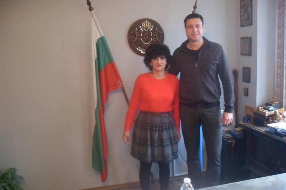 Д-р Константинова с кмета на Банкя Рангел Марков