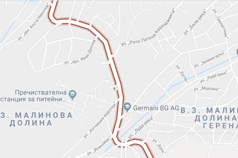 Карта на ул.Бистришко Шосе