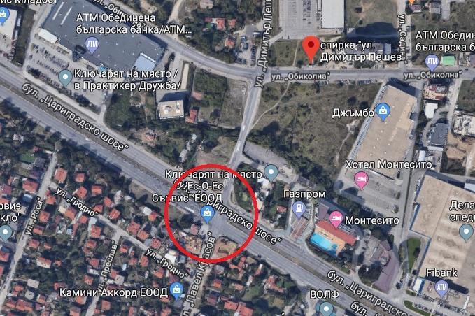 Протест на кръстовището на бул. Цариградско шосе и ул. Димитър Пешев