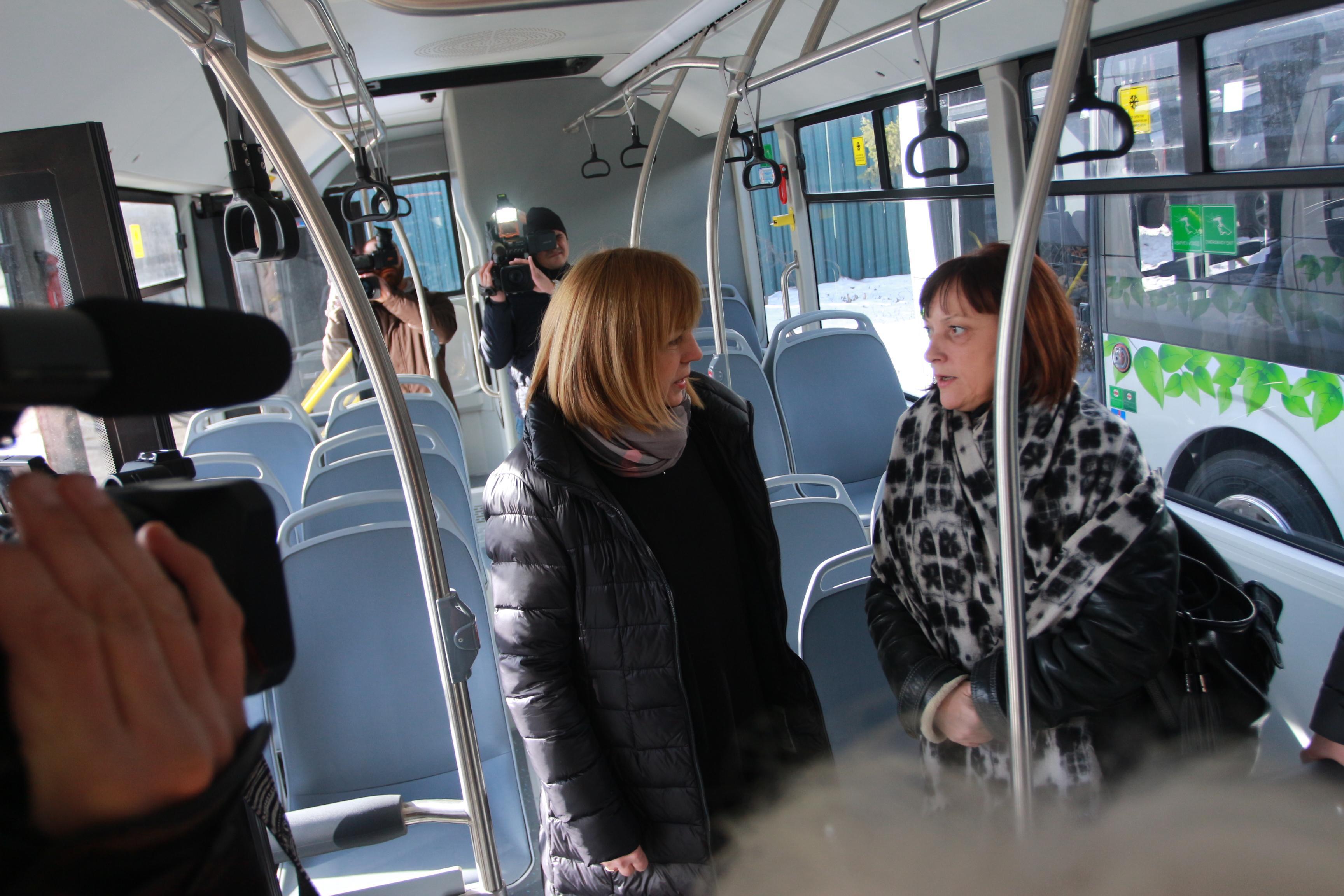 Йорданка Фандъкова, нов автобус