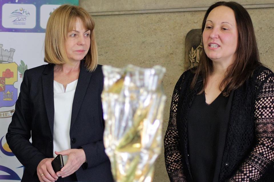 Евгения Раданова с кмета на София Йорданка Фандъкова