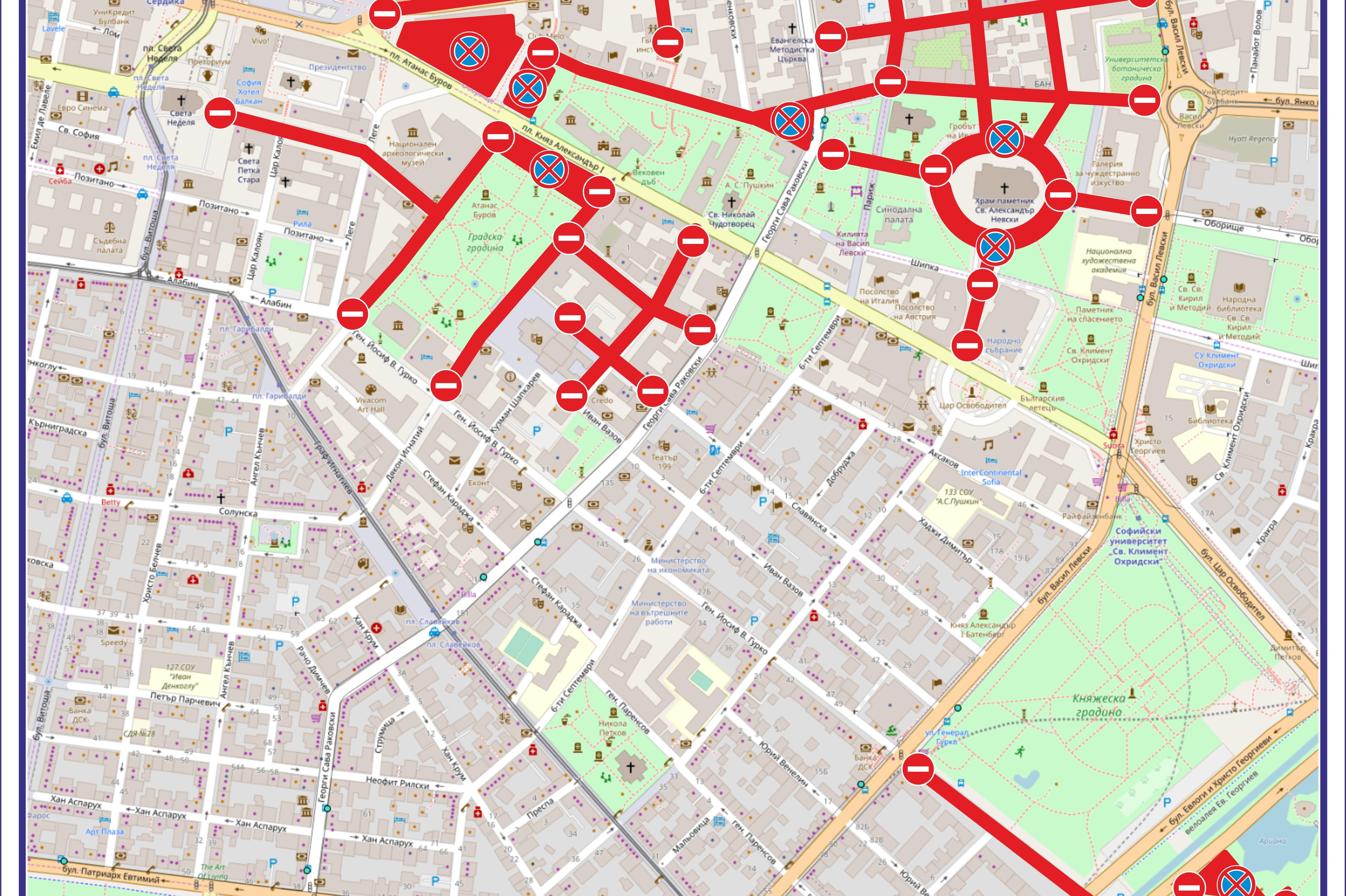 Centrt Na Sofiya Totalno Blokiran Ot 1 Do 7 Maj Stolica Bg