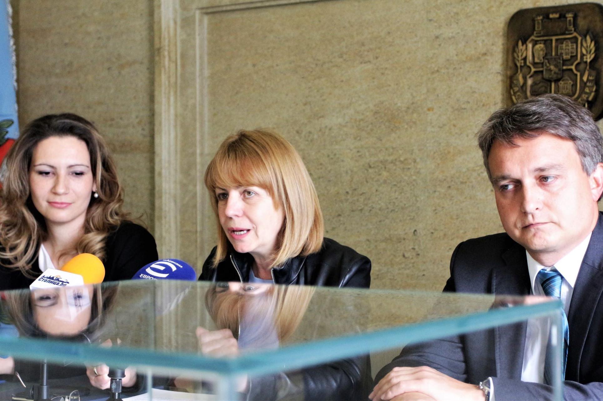 Фандъкова подписа споразумение с Клийнтех за Зелена София