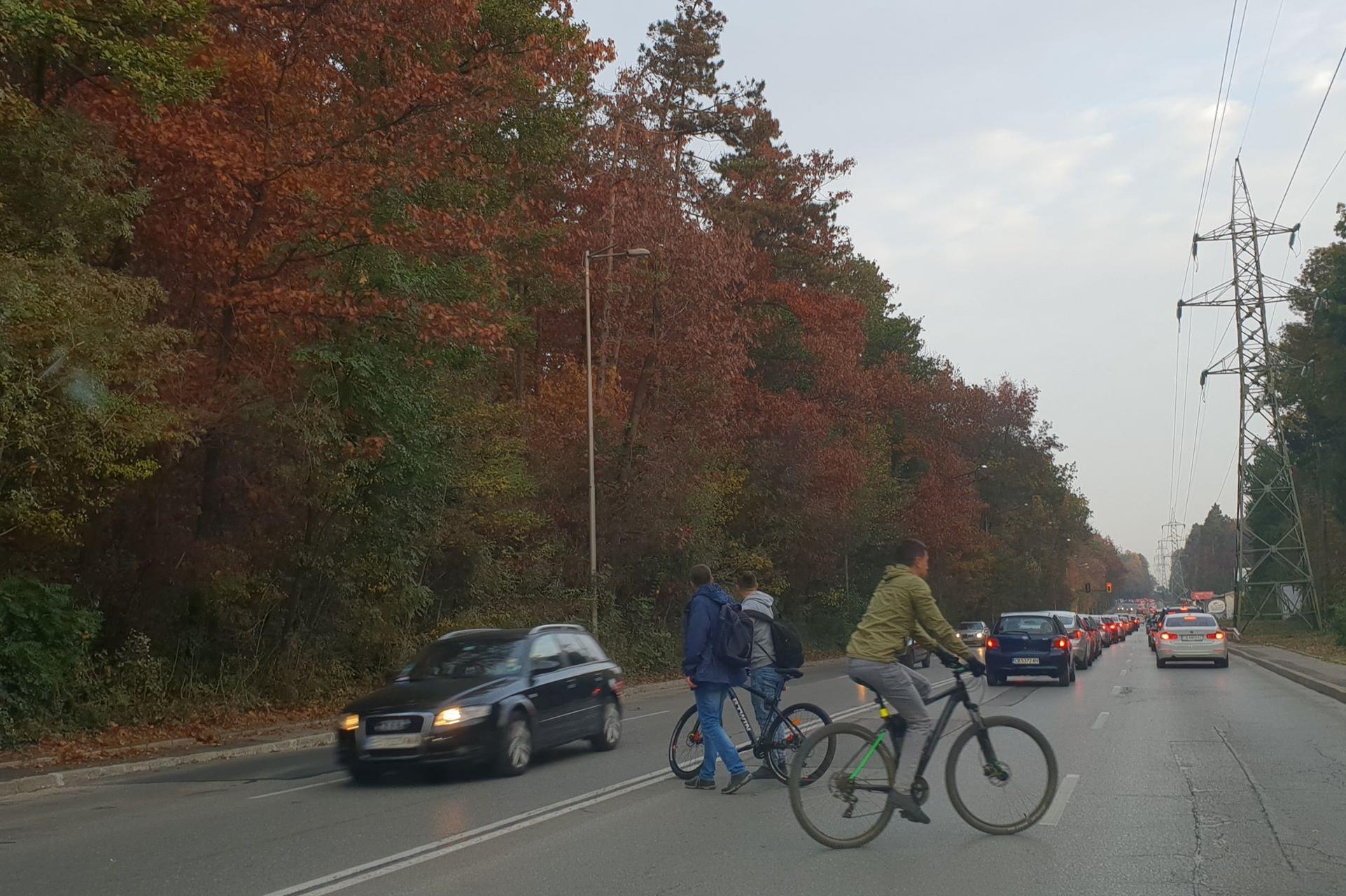Симеоновско шосе велосипедисти