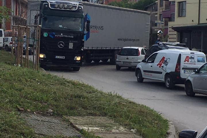 Камион в центъра на СОФИЯ
