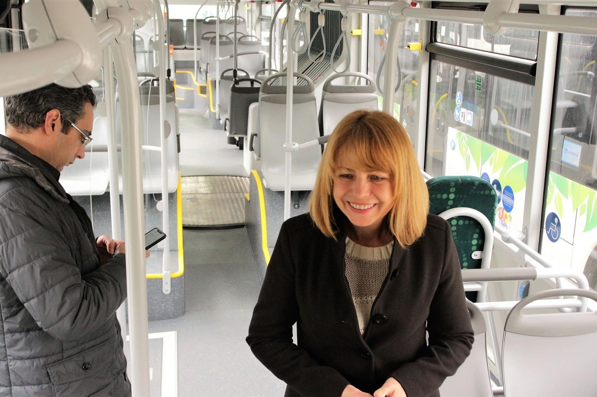 Нови автобуси на газ в гараж Земляне