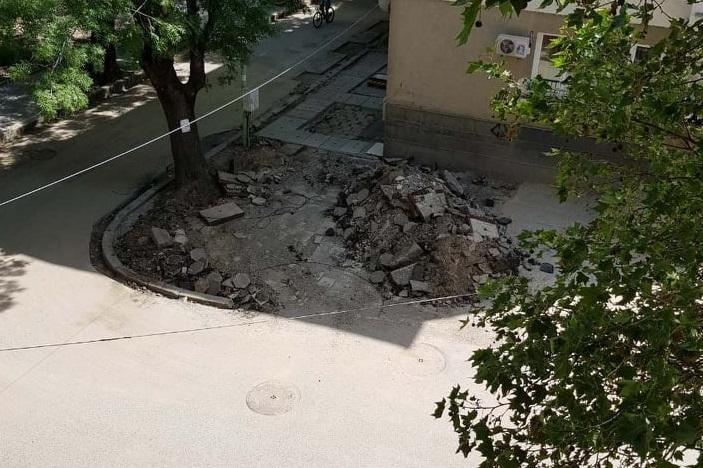 Работници избягаха от ремонт в кв. Банишора