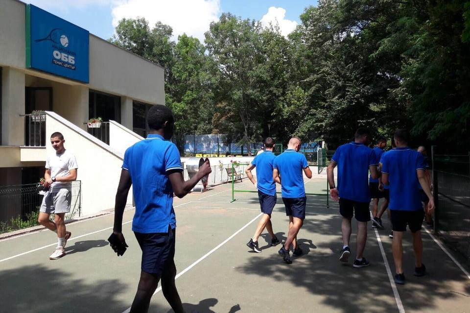 Футболистите на Левски на Националния тенис център