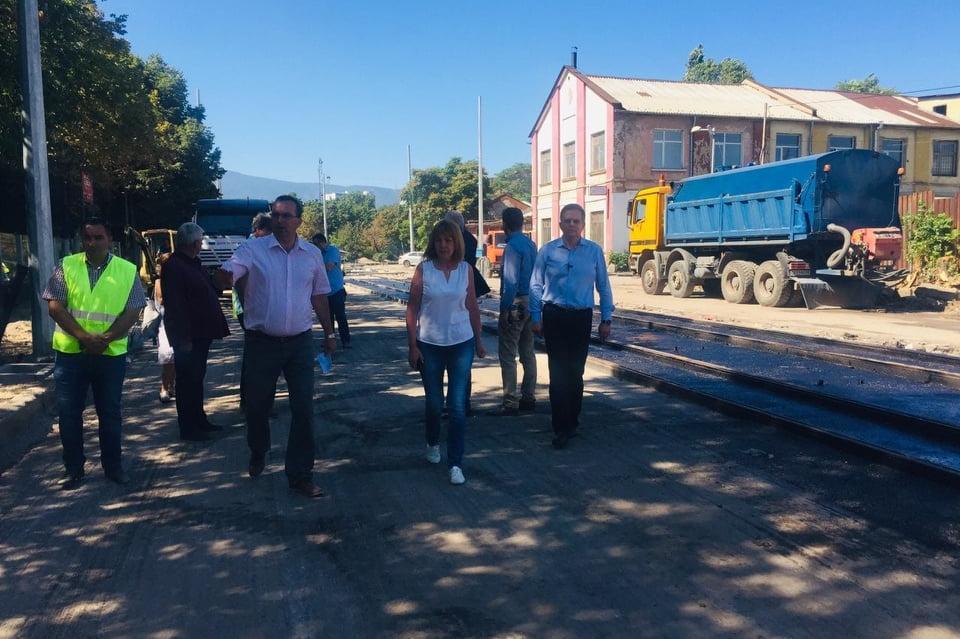 Проверка на ремонта на ул. Каменоделска