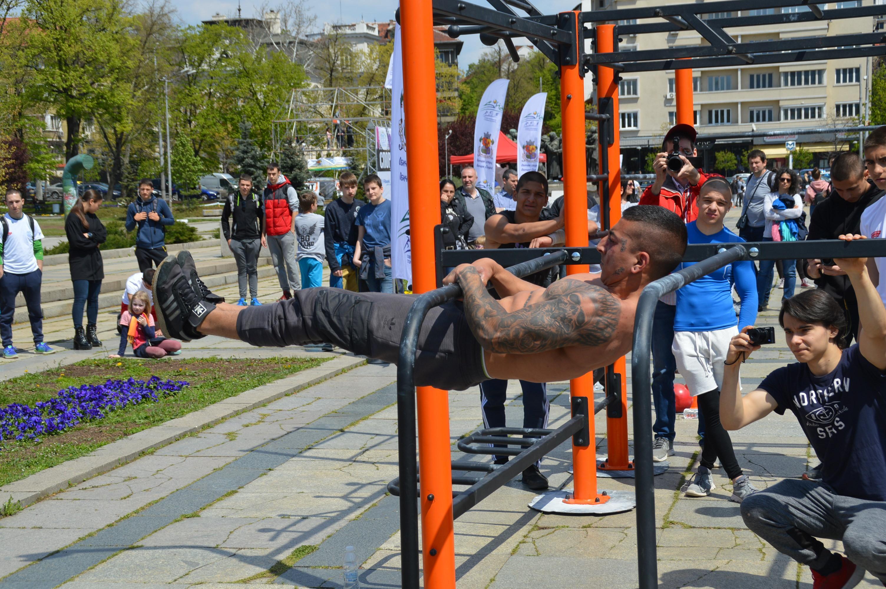 Стрийт фитнес в Ърбан зоната в София