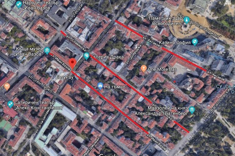 Реккламен клип затваря централни улици
