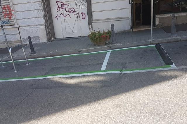 Място за паркиране на тротинетки