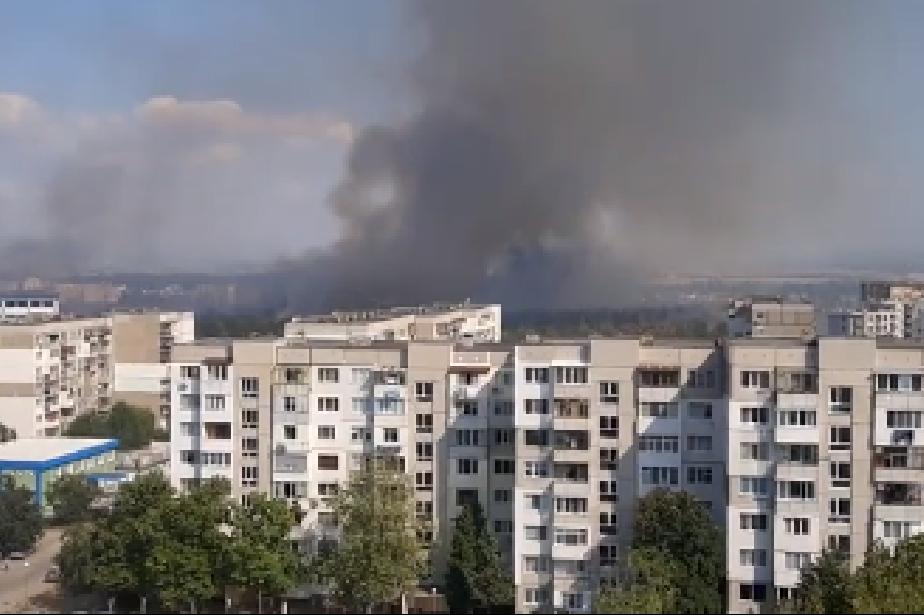 Пожар край Горибляне