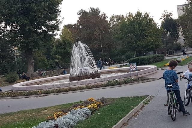Фонтана в парка Заимов