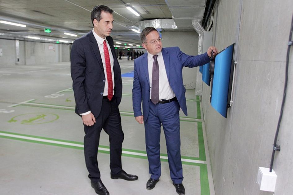 Новият буферен паркинг при БНР