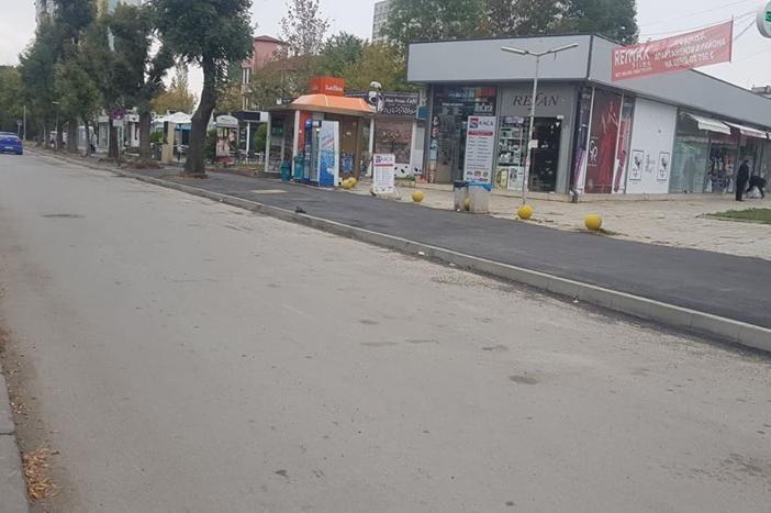 Ремонтиран тротоар в Дружба 1