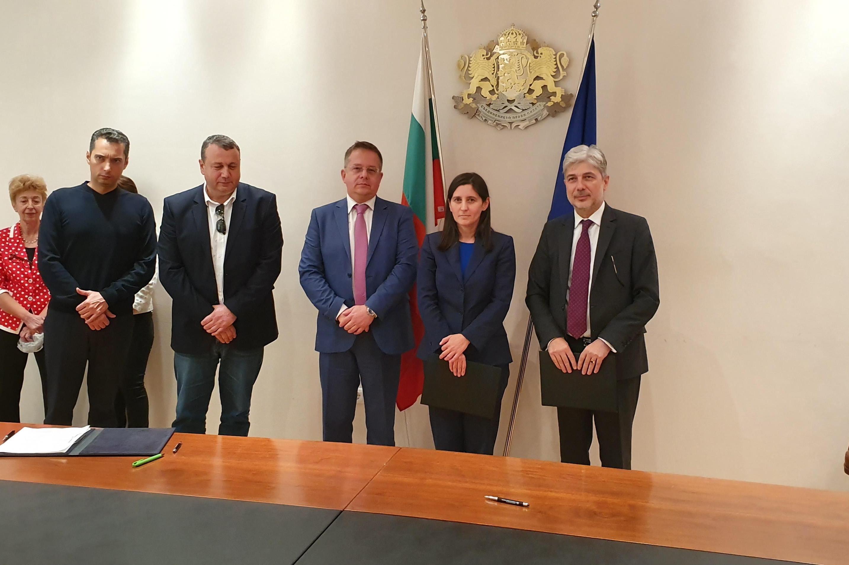 Подписване на договор между Столична община и МОСВ за 217 млн. лв.