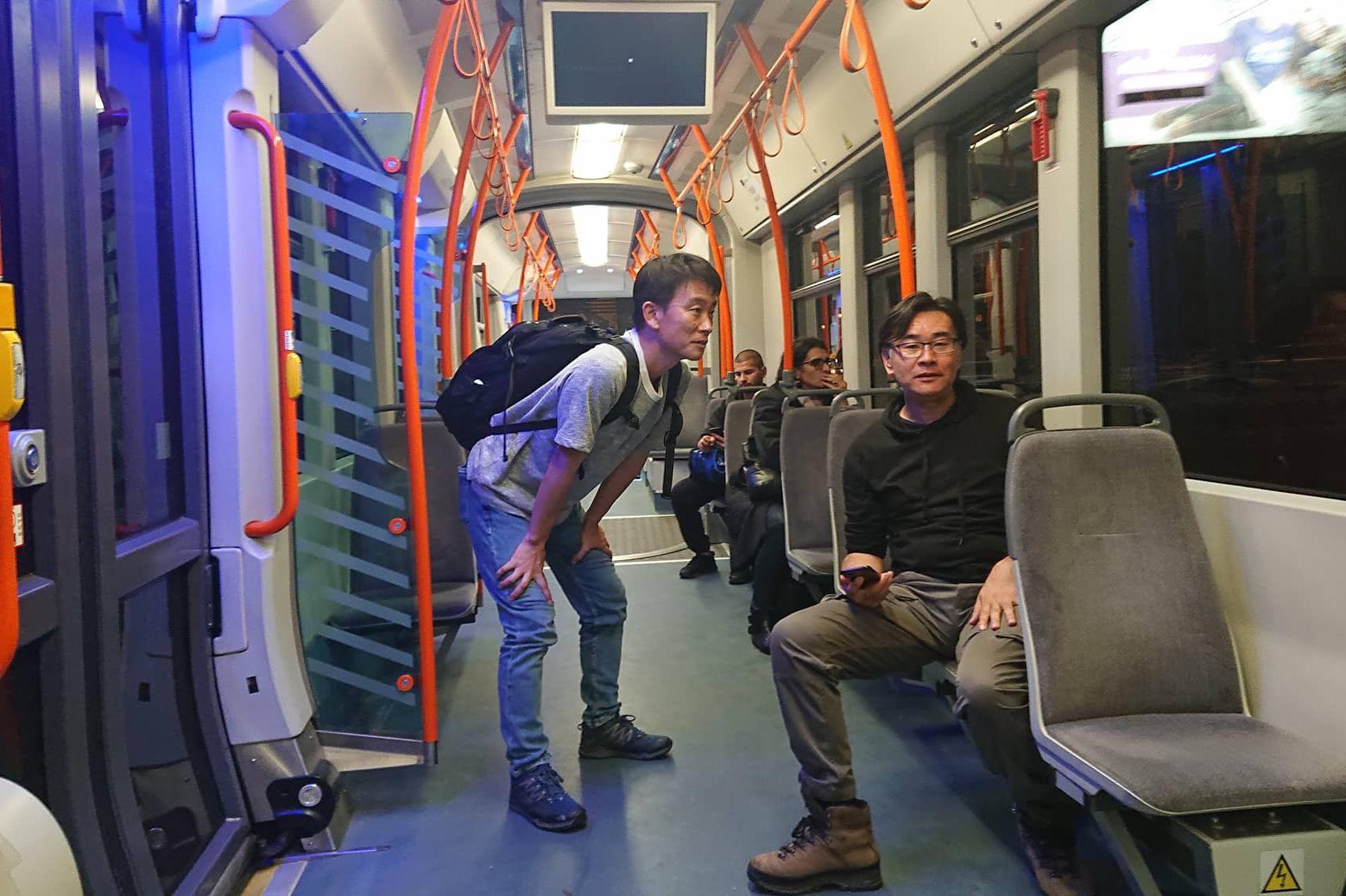 трамваи, японци, филм