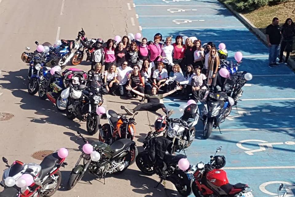 Жени на мотори подкрепиха кампанията за профилактични прегледи и за борбата
