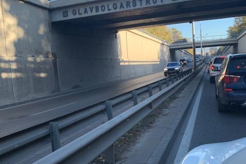 Верижна катастрофа на бул. Яворов край Телевизионната кула