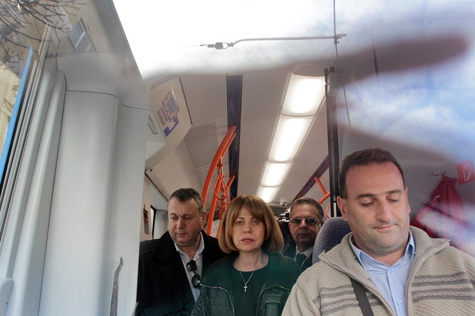 Фандъкова в новия трамвай 18