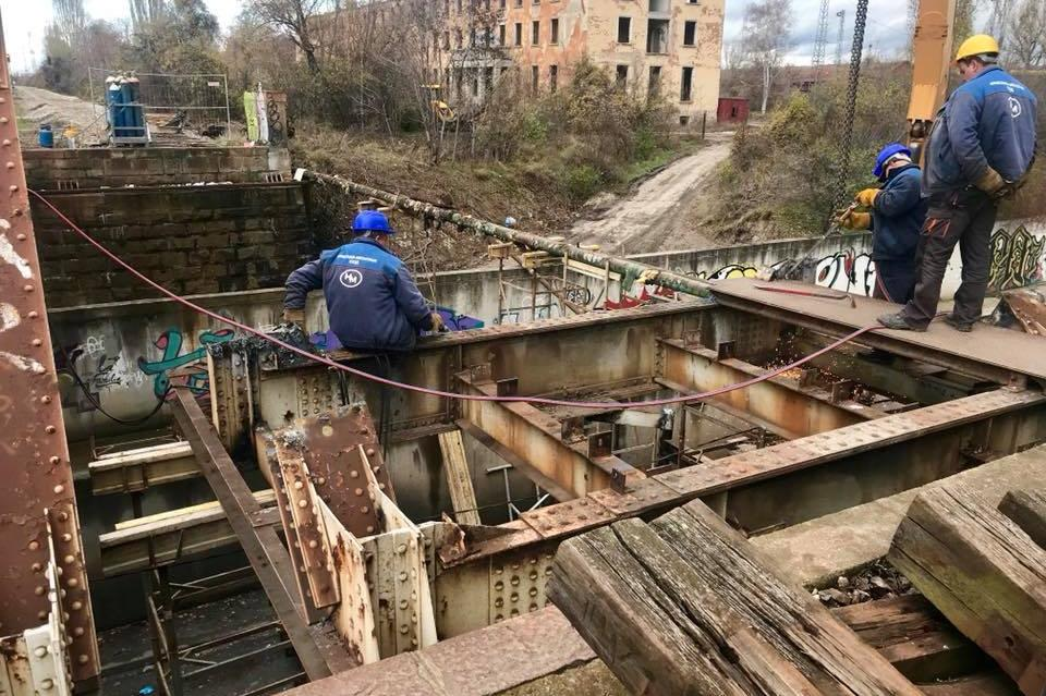 ремонт на жп моста по ул. Слатинска река