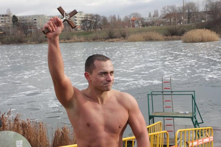 Йордановден на езерото в Дружба 1