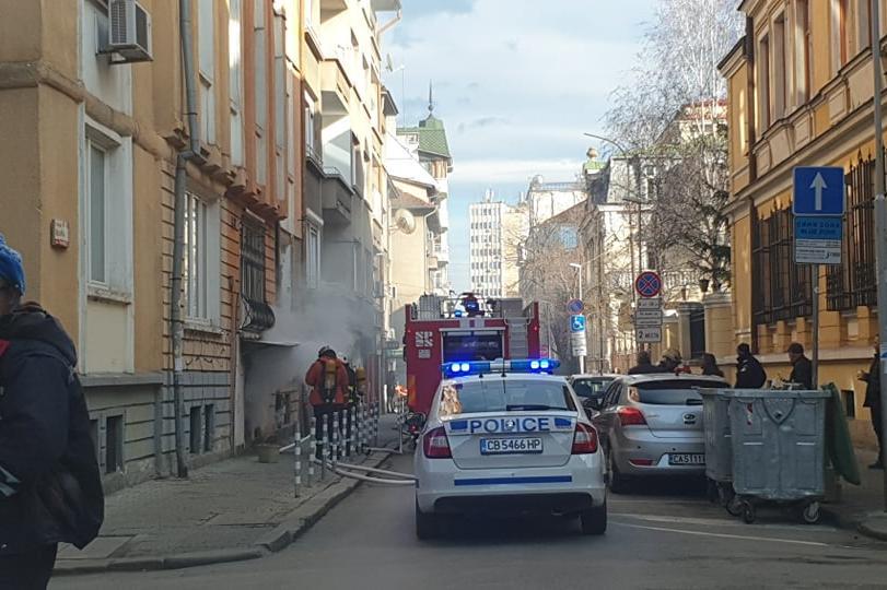 Пожар на ул. Врабча