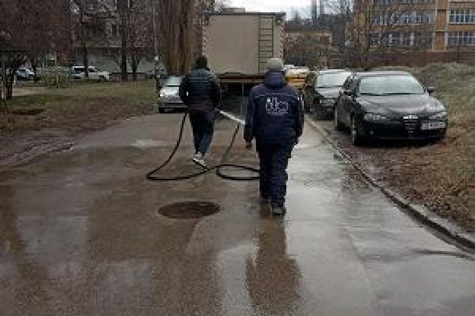 екипи за миене на улиците
