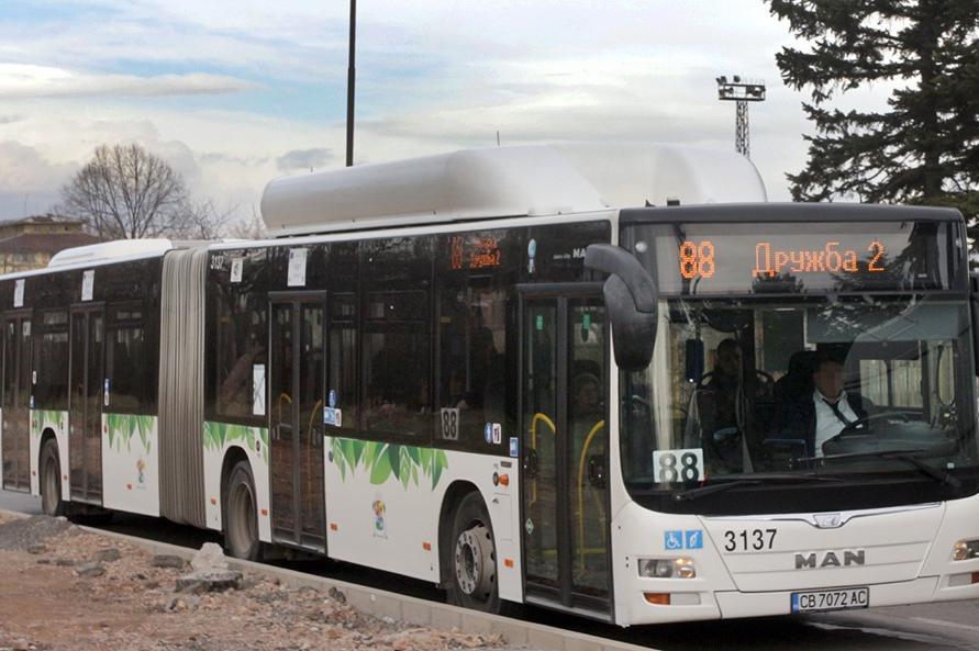 Промяна на спирки на автобус 88 в Дружба 1