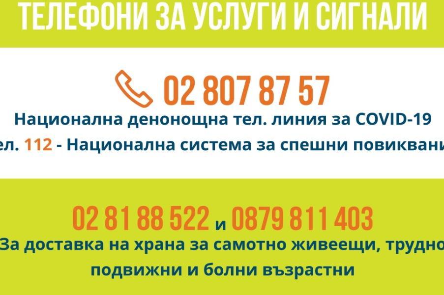 Вижте денонощните телефони за услуги и сигнали в София