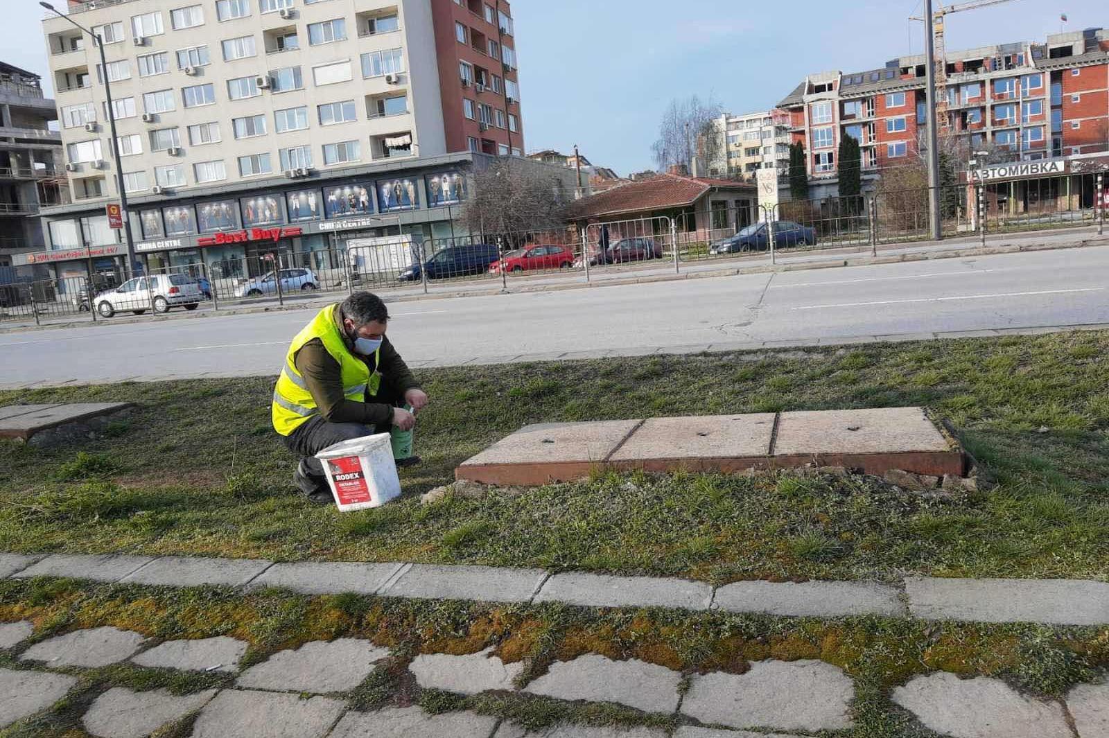 """Пръскат зелени площи срещу ларви на комари покрай """"Тодор Александров"""" и""""Цар"""