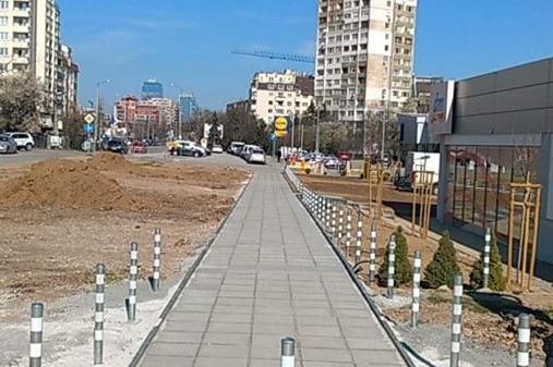 """В столичния """"Гоце Делчев"""" се радват на нова пешеходна алея"""