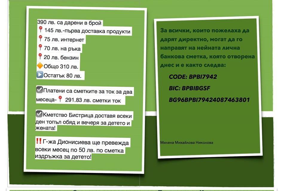 Добротворци: Жители на район Панчарево спасиха жена с левкемия и дъщеричкат