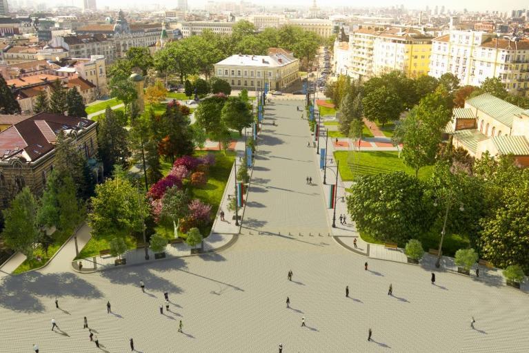 """Онлайн обсъждат проекта за транформация на площад """"Св. Александър Невски"""""""
