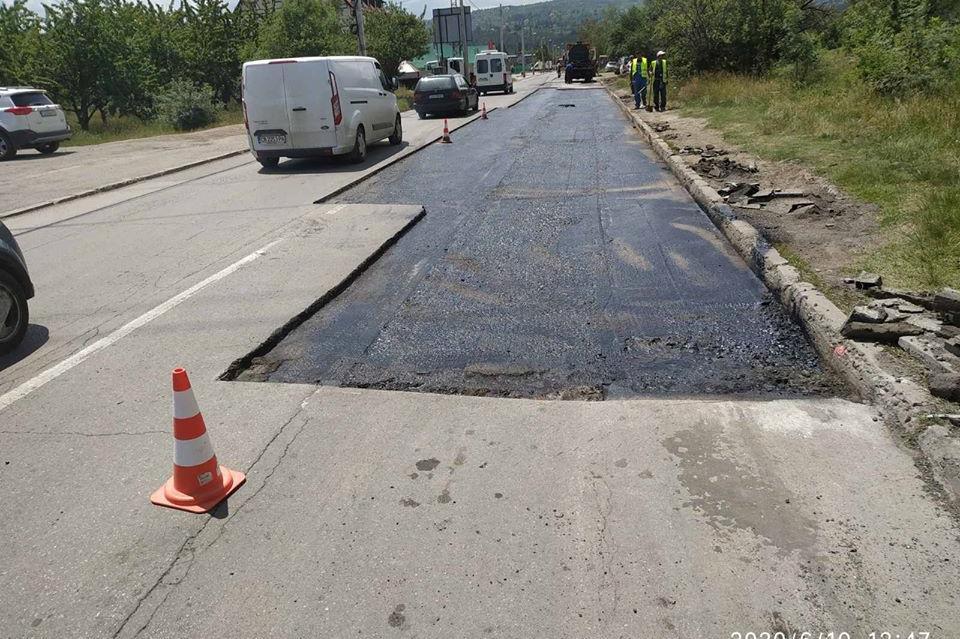 Временно спират ремонта по Самоковско шосе