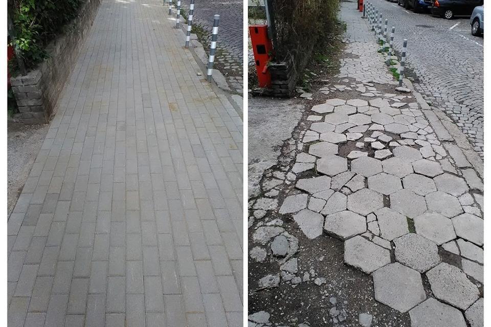 """Частен дарител ремонтира тротоара на ул. """"Зорница"""" в Лозенец"""