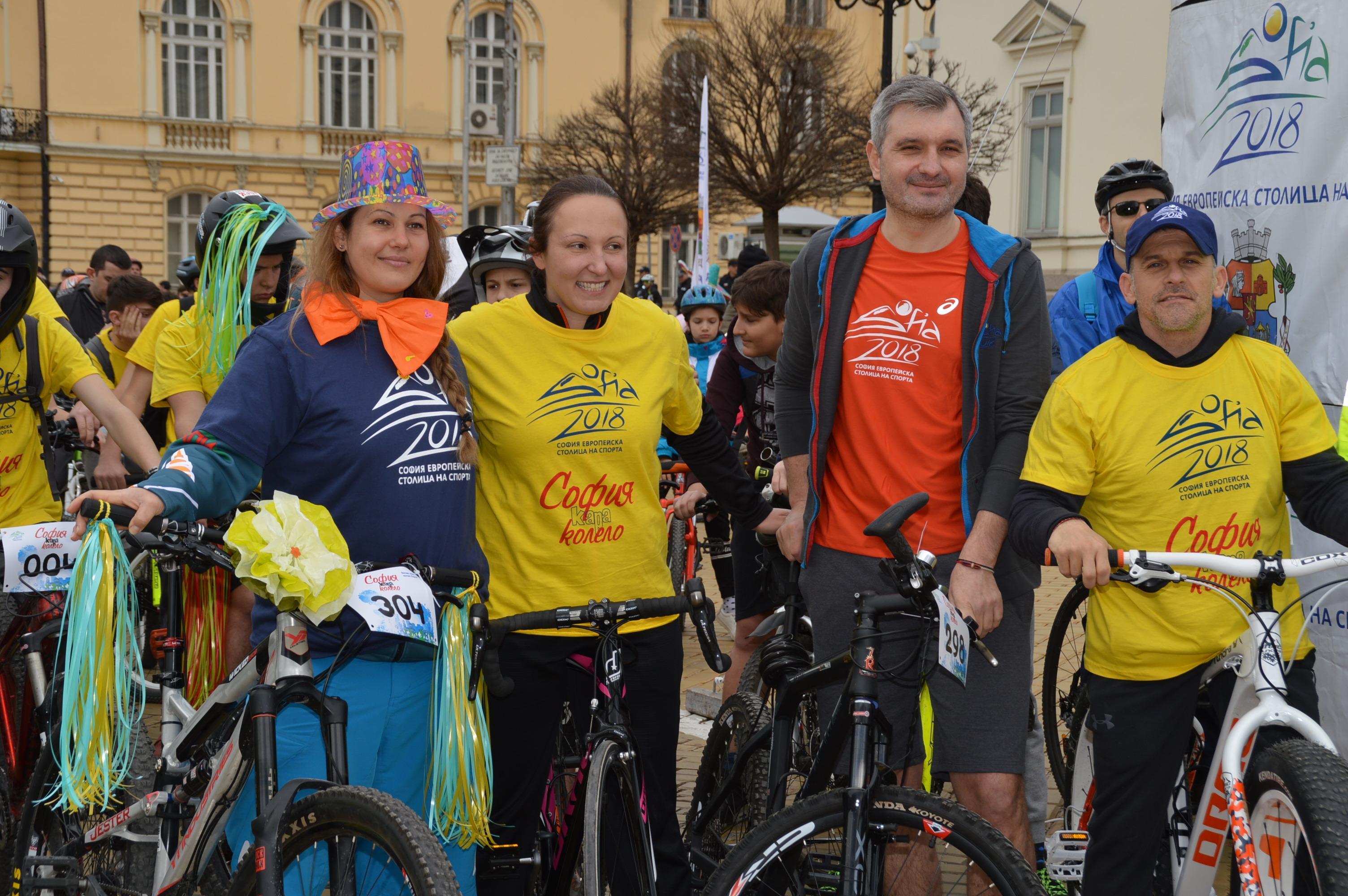 Евгения Раданова и Данчо Йовчев начело на велошествието за по-чист въздух в